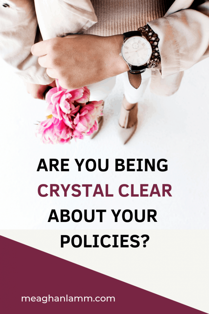 Are You Being Crystal Clear About Your Policies https://www.inspiredsolutionsco.com/onboarding-new-client/