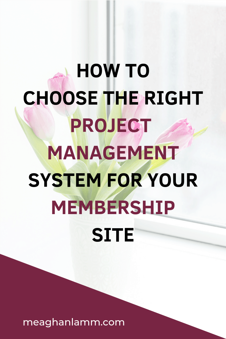 How To Choose The Right Project Management System For Your Membership Site Https://www.meaghanlamm.com/choose-right-project-management-system/