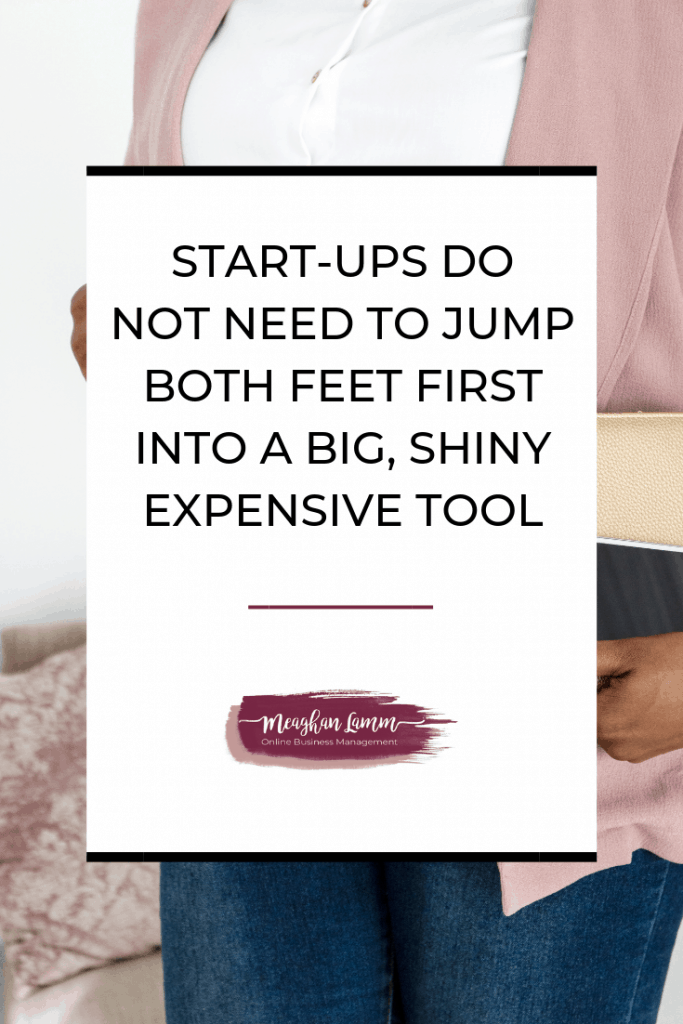 Start-ups do not need to jump both feet first into a big, shiny, expensive tool https://www.inspiredsolutionsco.com/choose-right-project-management-system/