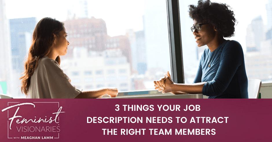 How to write a good job description
