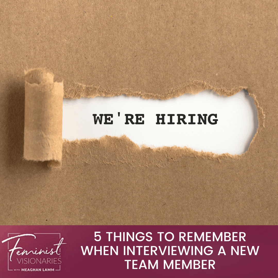 5 Things To Remember When Interviewing A New Team Member